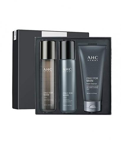 AHC HOMME Only For Men Skin Care 3 Gift Set (Toner, Lotion, Foam Cleanser)