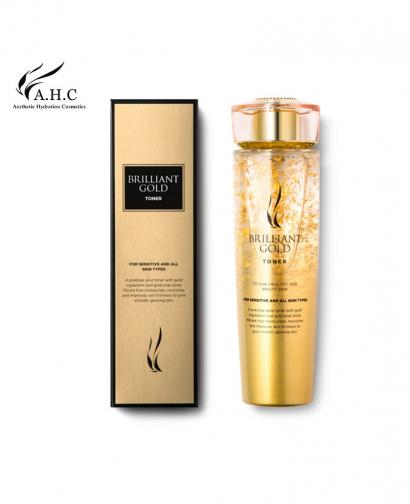 AHC Brilliant Gold Toner 140ml Whitening, Wrinkle Improvement