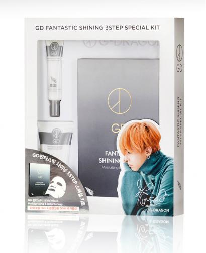 GD G-Dragon Fantastic Shining Mask Pack (5 Sheets) + Eyes Cream + Facial Cleanser
