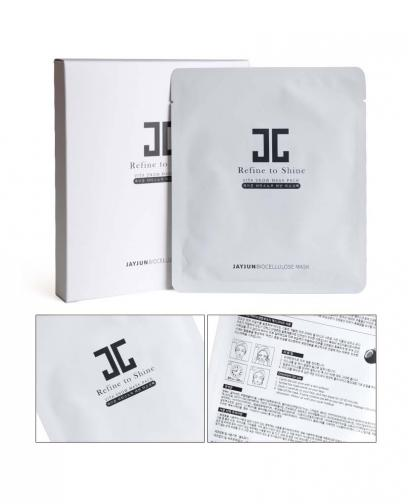 Korea JAYJUN Refine to Shine Vita Snow Placenta Biocellulose Mask Sheet 5pcs