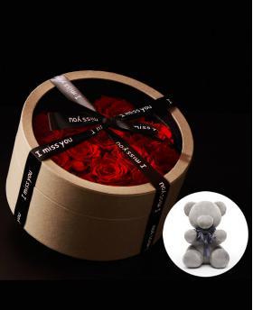 Preserved Fresh Love 13 Red Roses Immortal Flower Gift Box
