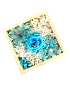Multi-Color Preserved Fresh Roses Immortal Flower - Tiffany Blue