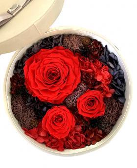 Preserved Fresh Red Roses Immortal Flower Gift Box