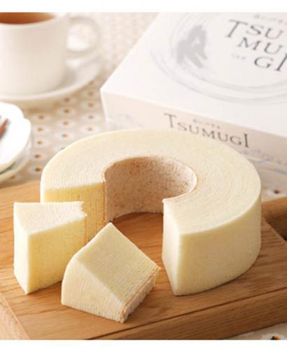Japan TSUMUGI Rings Round Cake White Creamy