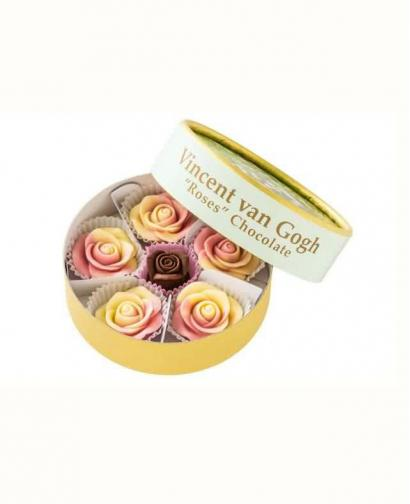 Japan Sweet Message De Rose Chocolate - ゴッホ《ばら》チョコレート GA001(6 Pieces)