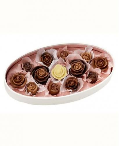 Japan Sweet Message De Rose Chocolate - メルシーローズ MR140 (13 Pieces)