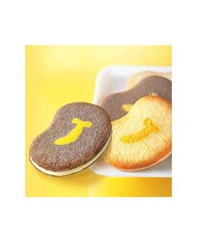 Tokyo Banana Series of White Chocolate Black and White Sandwich Cookies - 48 Pieces