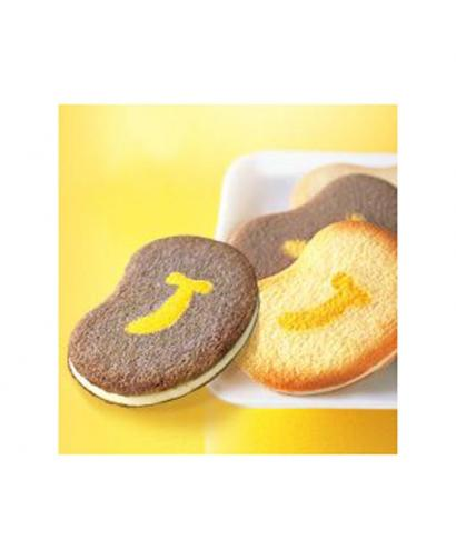 Tokyo Banana Series of White Chocolate Black and White Sandwich Cookies - 24 Pieces