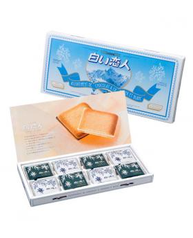 Japan ISHIYA Shiroi Koibito White and Black Cookies 24 Pieces