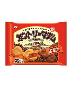 Japan FUJIYA COUNTRY MA'AM Chocolate Chip Cookies 20 Pieces