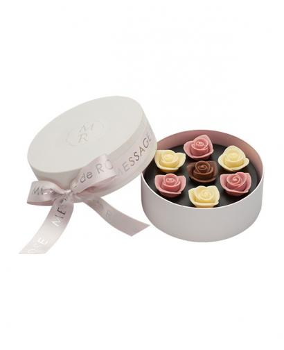 Japan Sweet Message De Rose Chocolate ソニア・ル・ブーケ S ロゼ&ブラン (6 Pieces)