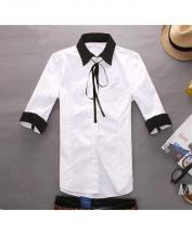Korean Men's and Women's Slim Short Sleeve Sweetheart Shirt