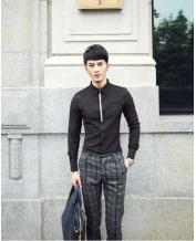 Men's Slim Palace Style Long-sleeved Rhinestone Shirt