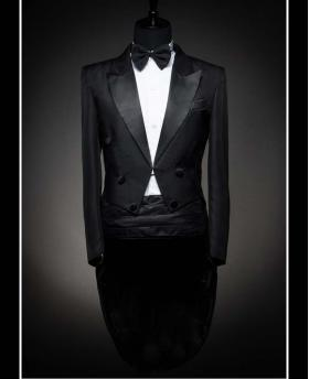 Men's Classic Black Banquet Wedding Dress Tuxedo (Include Pants)