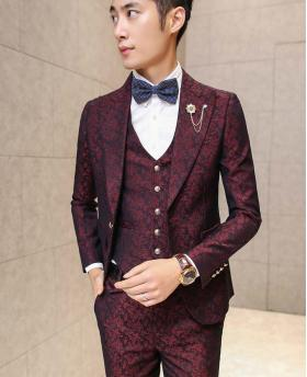 Men's Fashion Wedding Blazer Tuxedo Suits (Include Vest, Pants and Accessories)