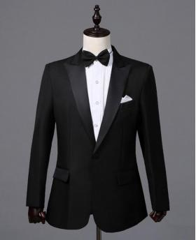 Men's Black The Groom Dress Tuxedo (Include Pants)