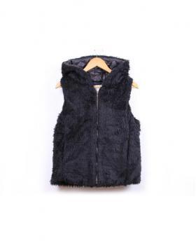 Men's Slim Warm Hooded Cotton Vest Jacket