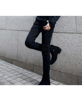 Men's Slim Black Pencil Pants