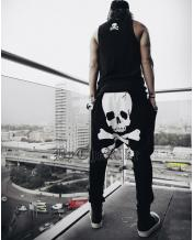 Men's Skull Harem Baggy Pants