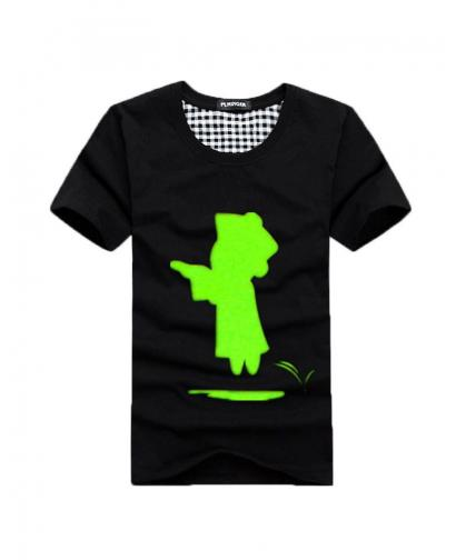 Green Fluorescence Little Zombie Lovers T-Shirt