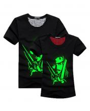 Green Fluorescence Captain Pattern Lovers T-Shirt