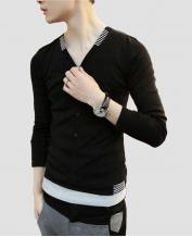 Fashion Men's Cotton Slim Long-sleeved Shirt