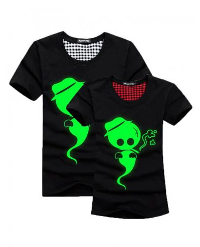 Green Fluorescence Ghost Lovers T-Shirt