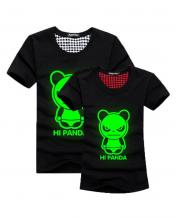 Green Fluorescence Angry Panda Lovers T-Shirt