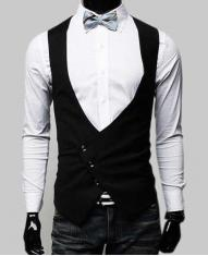 Fashion Men's Slim Big V-neck Vest