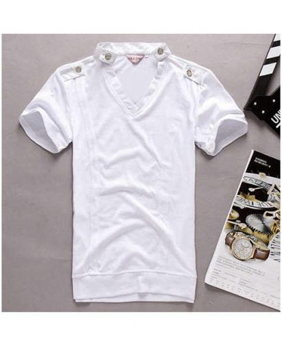 Men's Simple Style V-neck T-shirt