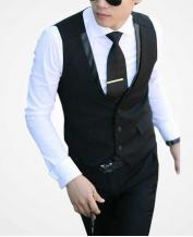 Fashion Men's Slim Vest and Collar Special Design