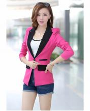CLASSIC WOMEN'S COLOR STITCHING LONG SLEEVE SLIM BLAZER