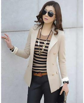 Classic Women Clothes Office Lady Slim Blazer