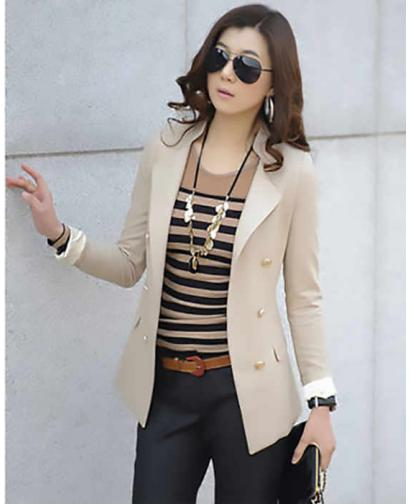 Classic Women Clothes Office Lady Slim Blazer