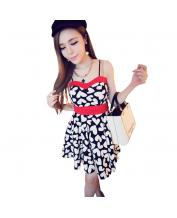 Fashion Strap Floral Dress