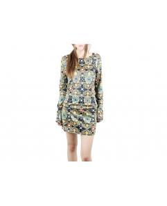Women's Baroque Printing Package Hip Slim Dress