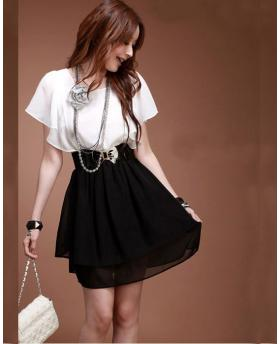Fashion Lotus Sleeve Temperament OL Dress
