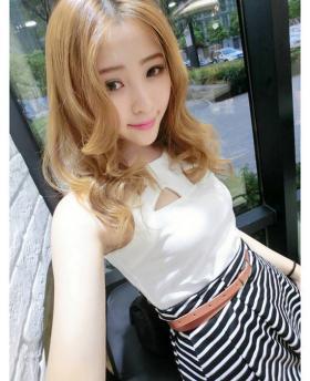 Korean Sweet Striped Pattern Dress