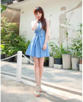 Fashion Lovely Princess Style Denim Dress