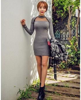 Fall and winter long-sleeved sexy dress
