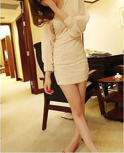 Women Pearl Collar Dress