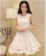 Women Clothes Fashion Organza White Dress