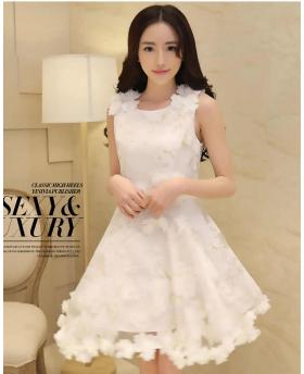 Women Clothes Fashion Organza White Dress