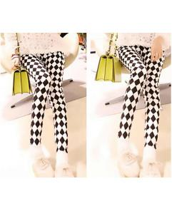 Ultra-thin Black and White Chessboard Paddy Pencil Pants
