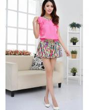 Korean Style Stripe Loose Shorts