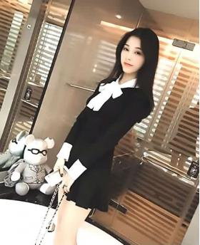 Fashion Big Bow College Style Long Sleeve Clothing Sets(Include High Waist Slim Skirt)