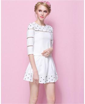Fashion European 3/4 Sleeve and Skirt Set