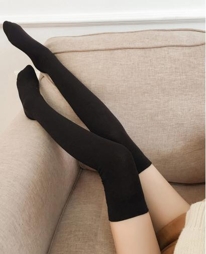 Autumn and Winter Women's Simple Thick Warm Bottoming High Socks Stockings