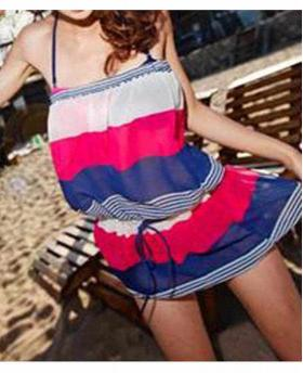 FASHION SPA SPLIT SKIRT THREE-PIECE SWIMSUIT