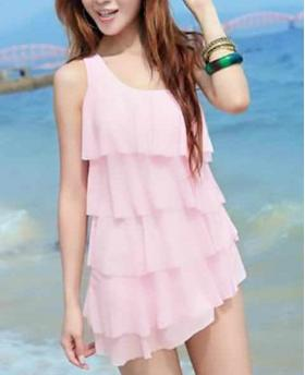 FASHION ONE PIECE SKIRT SWIMSUIT